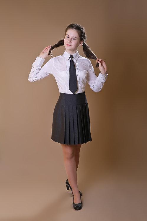Юбка «Даша» серая костюмная