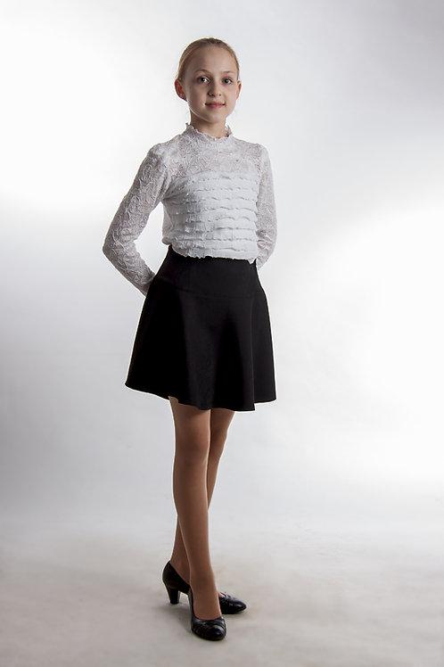 Юбка «Маша» чёрная костюмная
