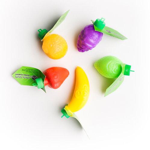 Fruits de plastique contenant de la poudre