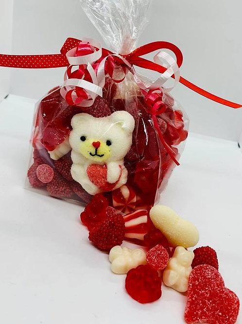 Sac de jujubes de St-Valentin 700 gr.