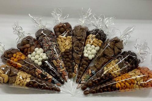 Cône noix et chocolat