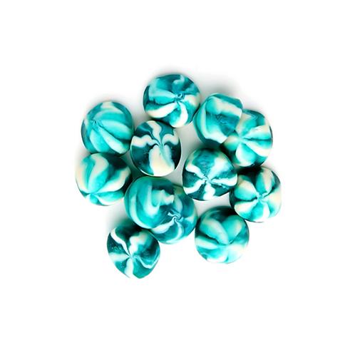 Spirale à la crème et à la framboise bleu
