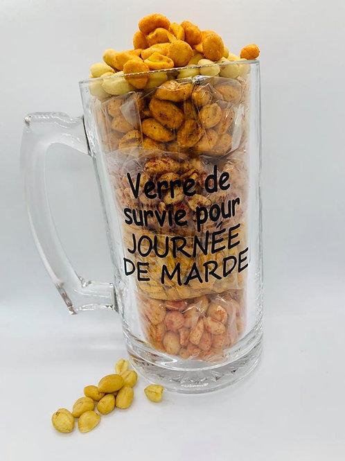 Verre à bière arachides