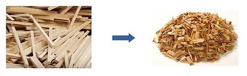 Madeira Triturada - Cavacos de madeira, Triturador para madeira, Picador para madeira