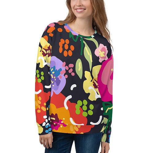 Large Floral Unisex Sweatshirt