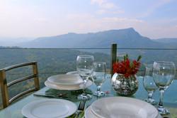 Alfresco dining on the balcony