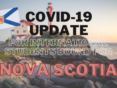 COVID-19 Update for International Students Bound for Nova Scotia