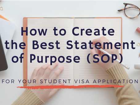 How to Create the Best Statement of Purpose (SOP) for Your Student Visa Application