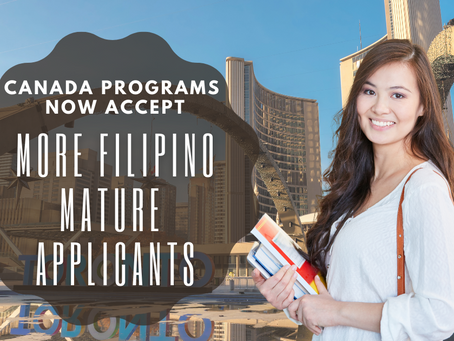 Canada Programs Now Accept More Filipino Mature Applicants