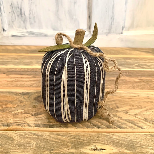 Small navy striped pumpkin