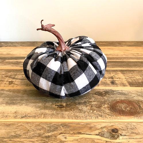 Medium buffalo check pumpkin