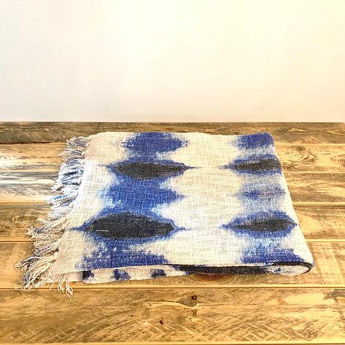 Cotton Tie-dye throw with fringe