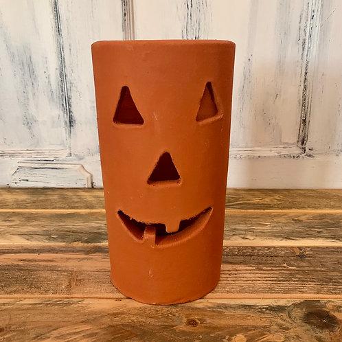 Large clay Jack o lantern