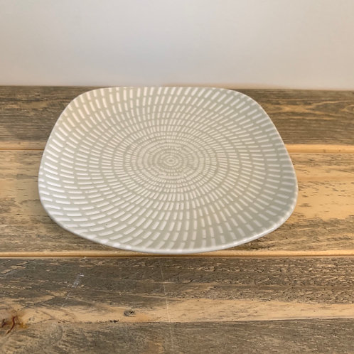 Pastel textured plate-6.5in