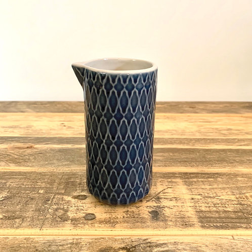 Blue stoneware Naomi cream holder