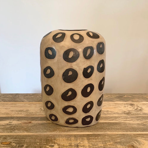 Clay lenca cheetah vessel -11 in