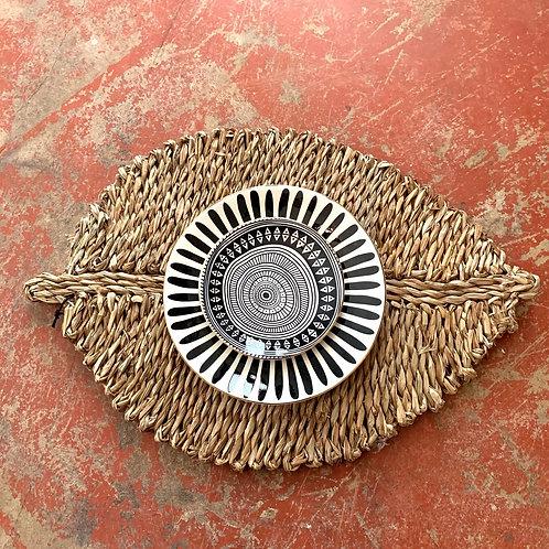 Sea grass leaf shaped place mats