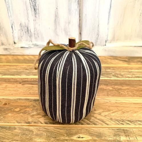 Large navy white striped pumpkin