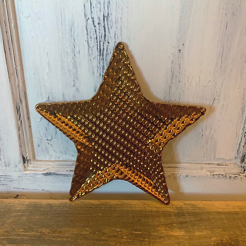 Small gold star plate