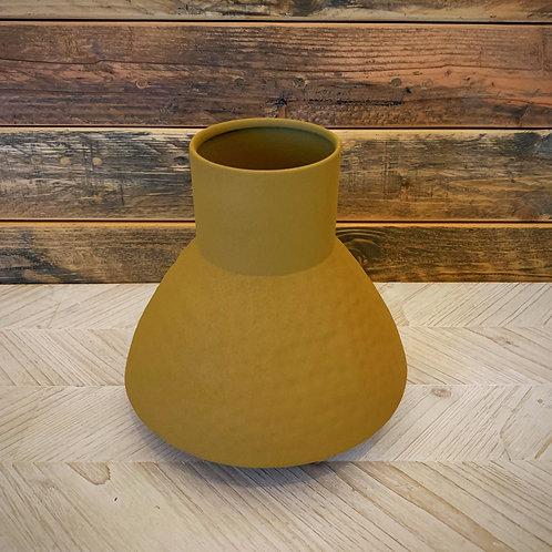 Matte mustard vase