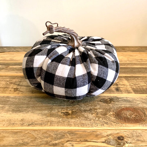 Large buffalo check pumpkin
