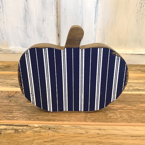 Large blue striped pumpkin cut out