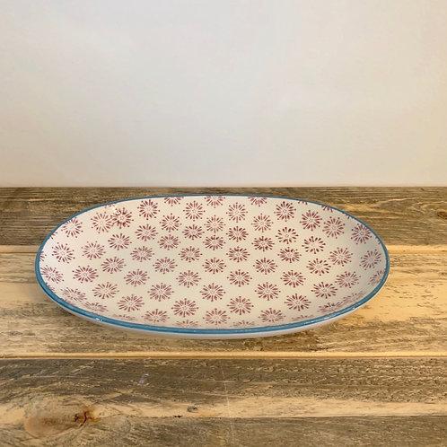 Stoneware oval Patrizia plate-8.5in