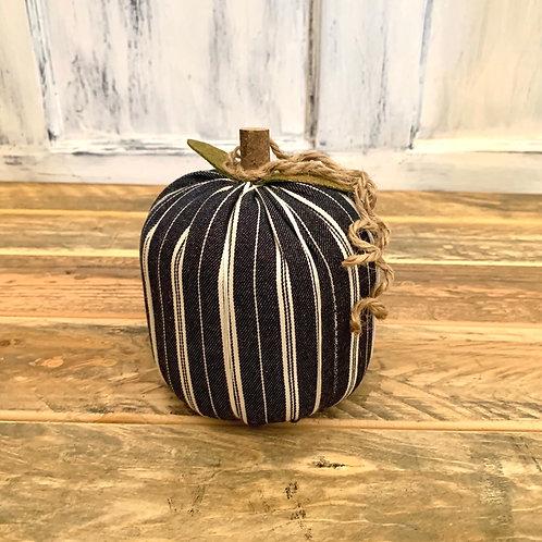 Medium navy striped pumpkin