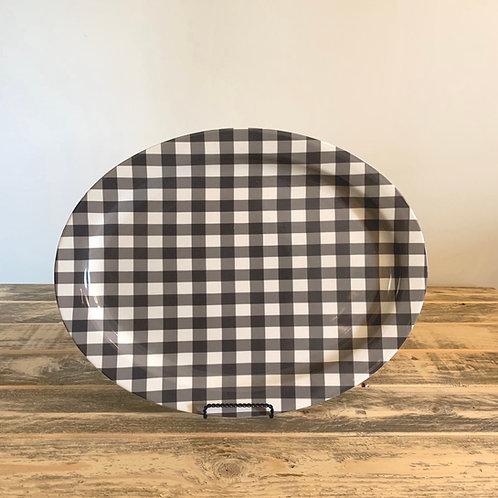 Buffalo check platter