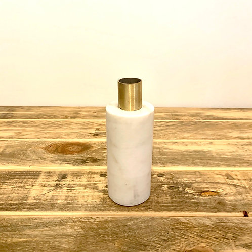 Marble/brass taper candle holder