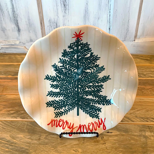 Merry tree ruffle plate (Coton-Color)