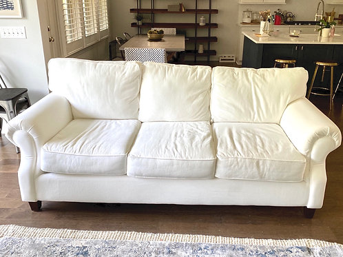 White couch- Staging