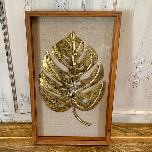 Metal leaf /wood wall decor