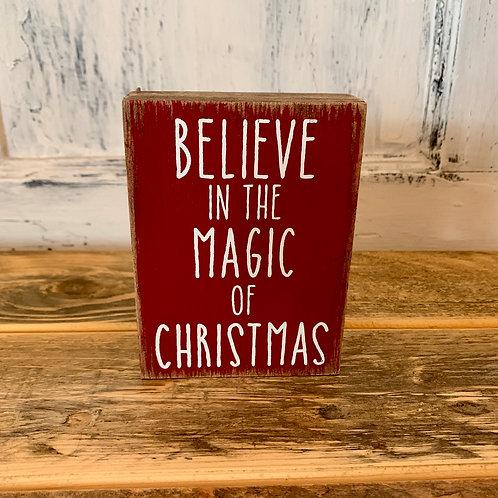 Magic Christmas sign block