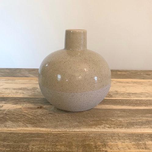 Stoneware sand vase