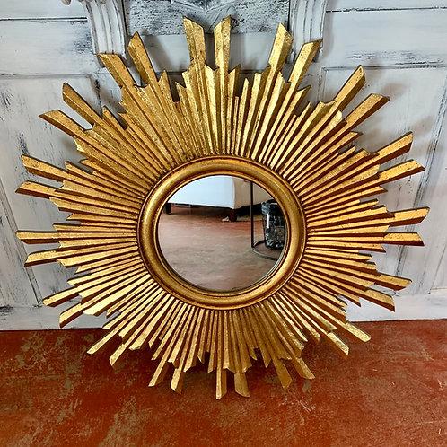 Round mirror sunburst