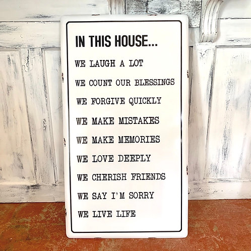 House rules wall hanging