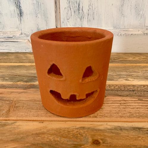 Small clay Jack o lantern