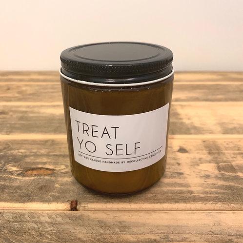 Treat yo self candle