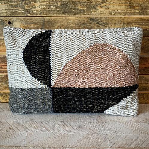 Multi color lumbar pillow