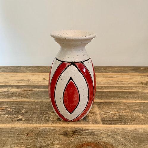 Colorful ceramic vase