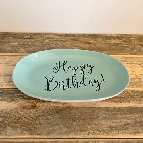 Happy birthday plate-8.5in