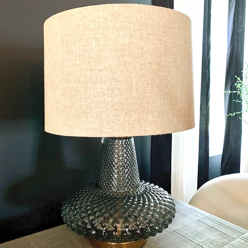 Grey lamp gold base