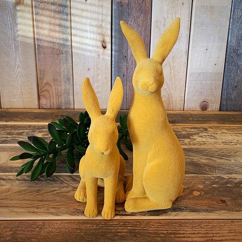 Mustard velvet bunnies