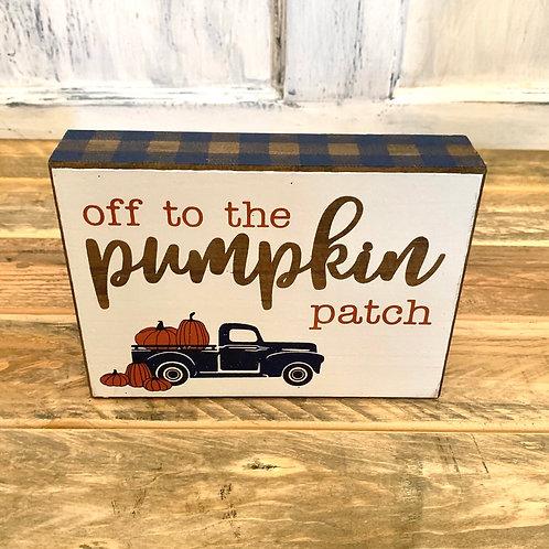 Pumpkin patch blue truck