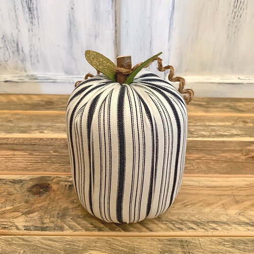 Large white stripe pumpkin