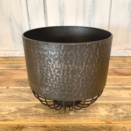 Large metal planter