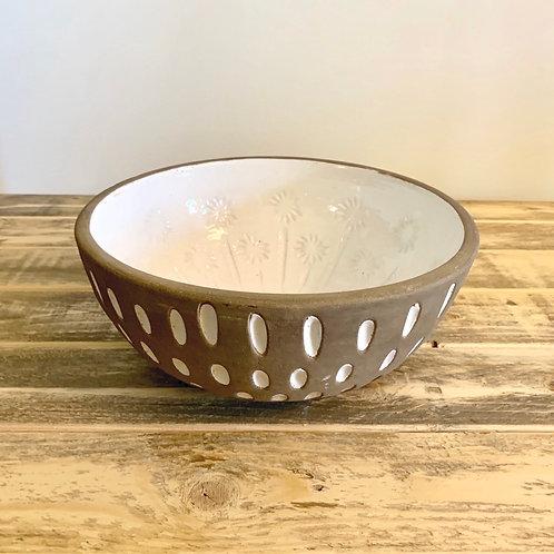 Decorative terra-cotta bowl