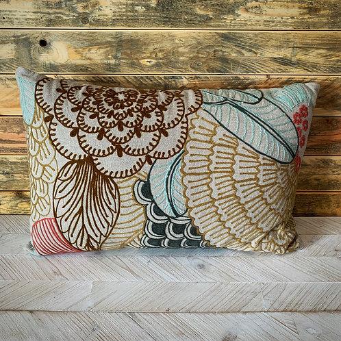 Lumbar embroidery pillow