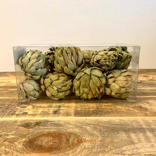 Dried artichoke in a box